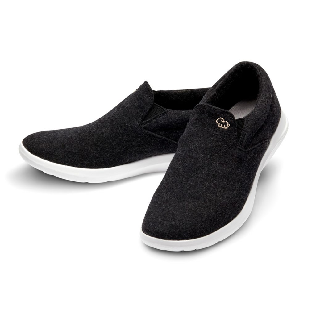 Merino Schuhe Schwarz Slipper