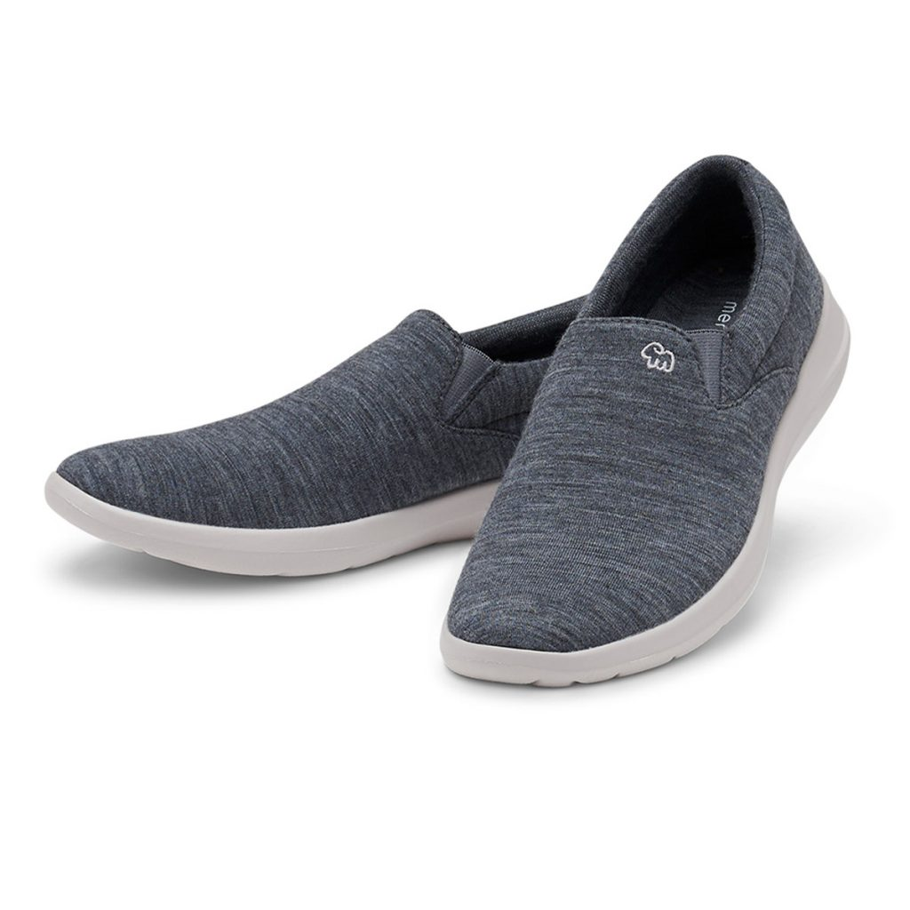 Merino Schuhe Grau Slipper