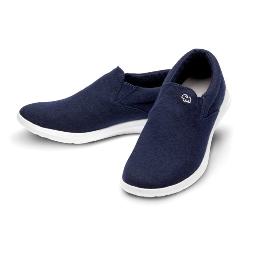 Merino Schuhe Blau Slipper