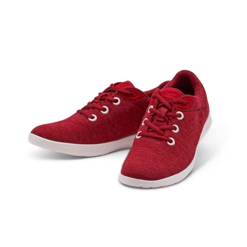 Merino Schuh Sneaker Rot