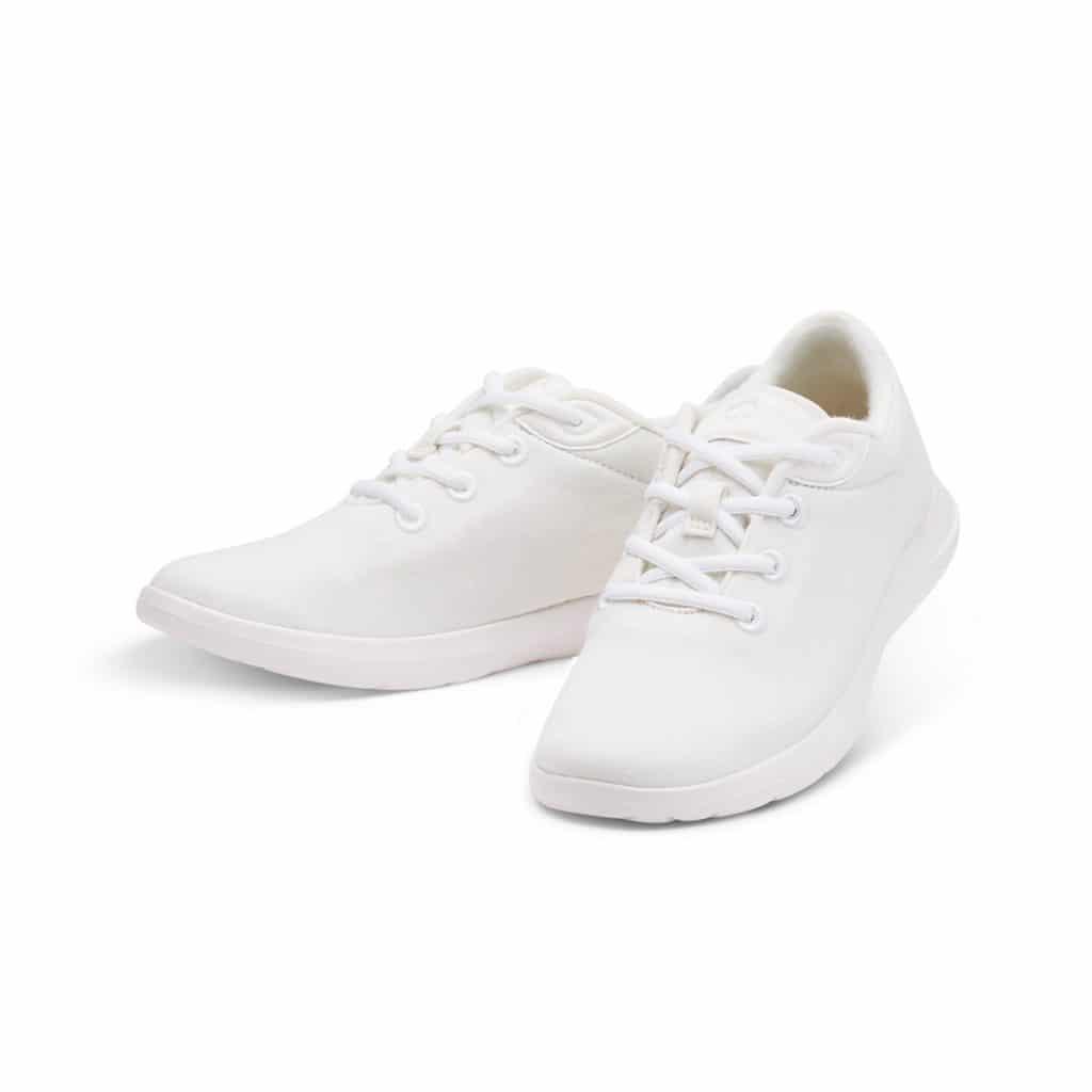 Merino Schuh Sneaker Weiss