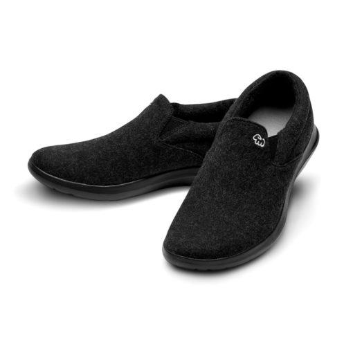 Merino Schuh Sneaker Schwarz